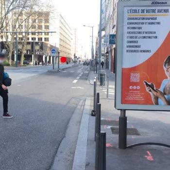 Campagne affichage Ecole AFIP Formations avec JCDECAUX